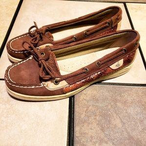 Womens 6 Sperry boat shoe like new